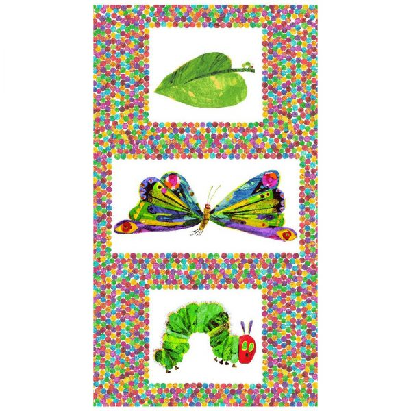 the very hungry caterpillar panel butterfly leaf
