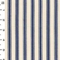 Navy ticking stripe cotton poplin CP0184