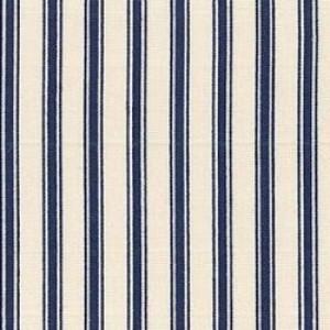 Navy ticking stripe cotton poplin