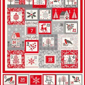 scandi themed advent calendar panel