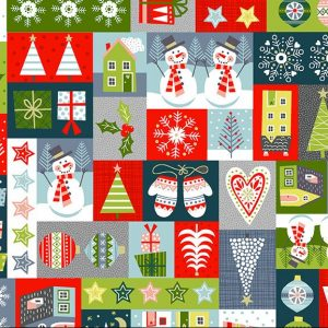 montage blocks of Christmas scenes