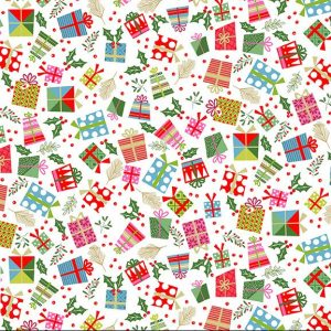 multi presents on cream background
