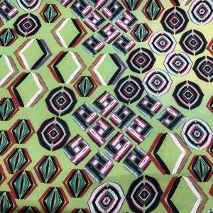 green abstract print